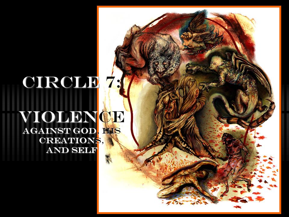 Circle 7: Violence against God, his creations, and self