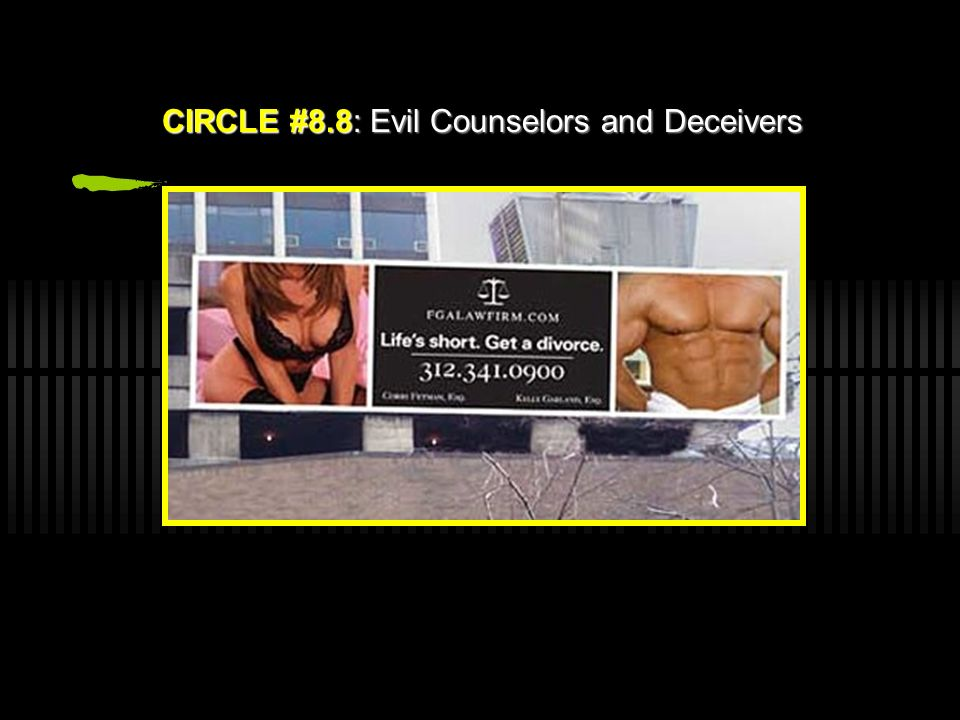 CIRCLE #8.8: Evil Counselors and Deceivers