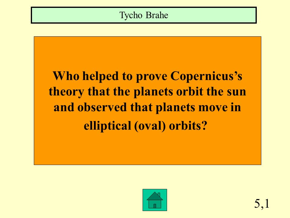 Who helped to prove Copernicus's theory that the planets orbit the sun