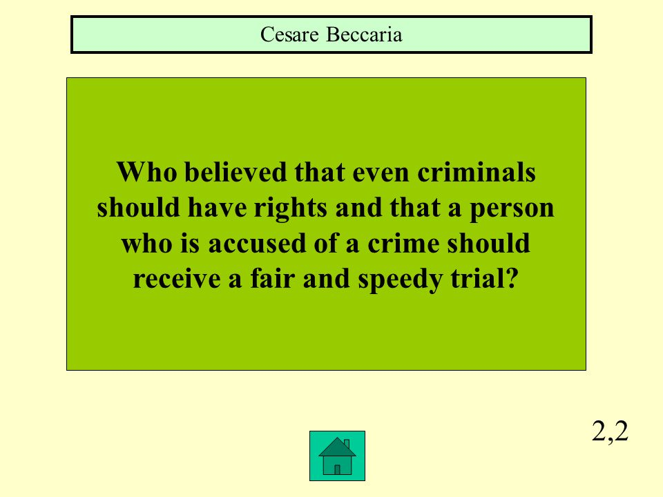 Who believed that even criminals should have rights and that a person