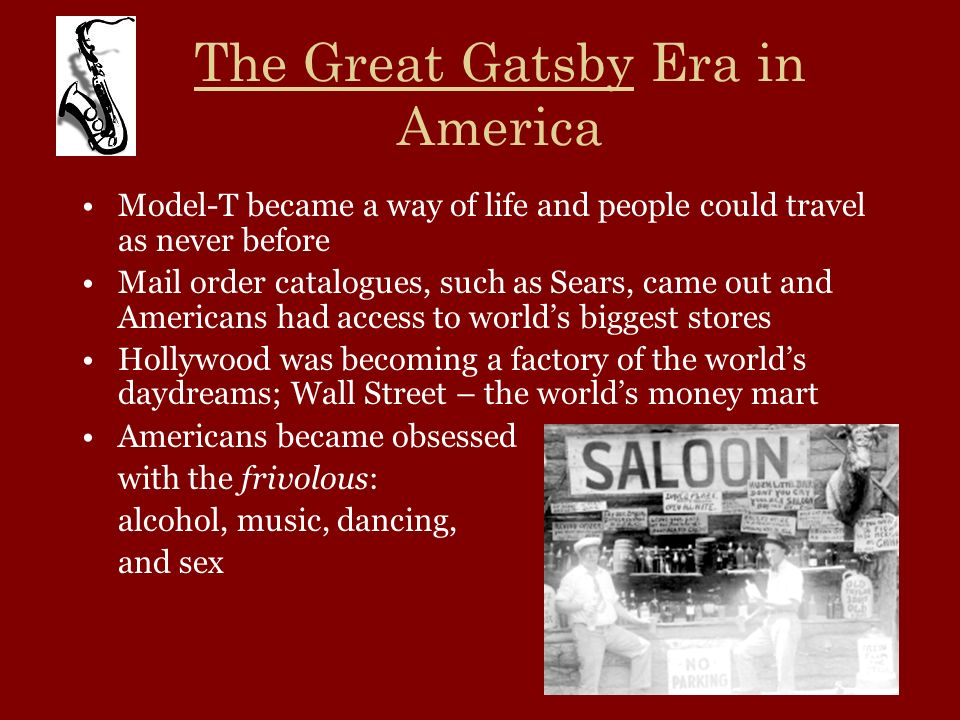 The Great Gatsby Era in America