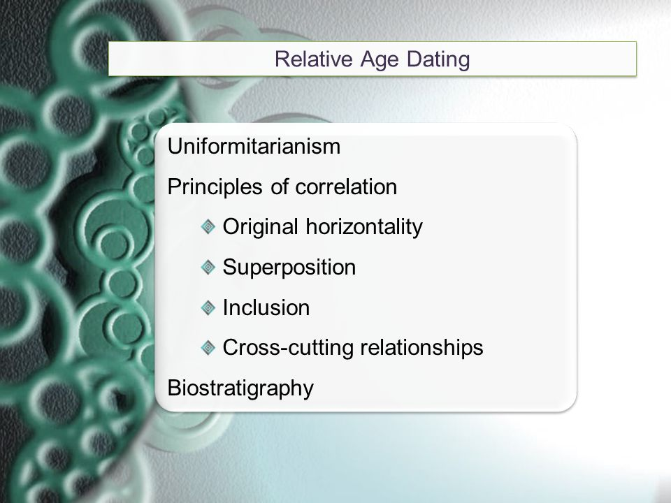 4 geologic principles for relative age hookup