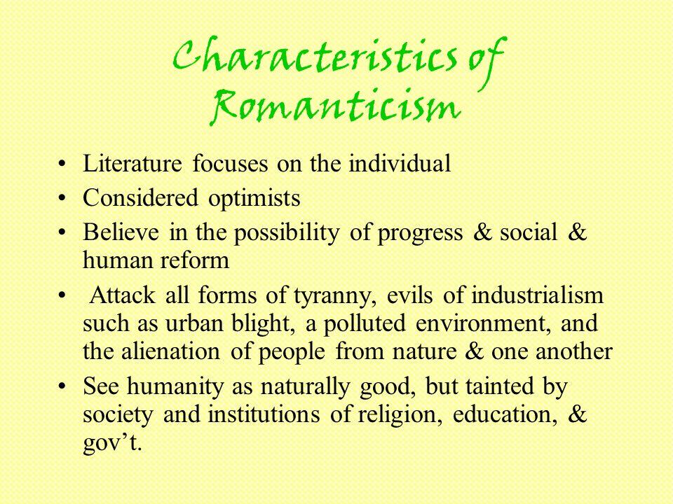 Characteristics of Romanticism