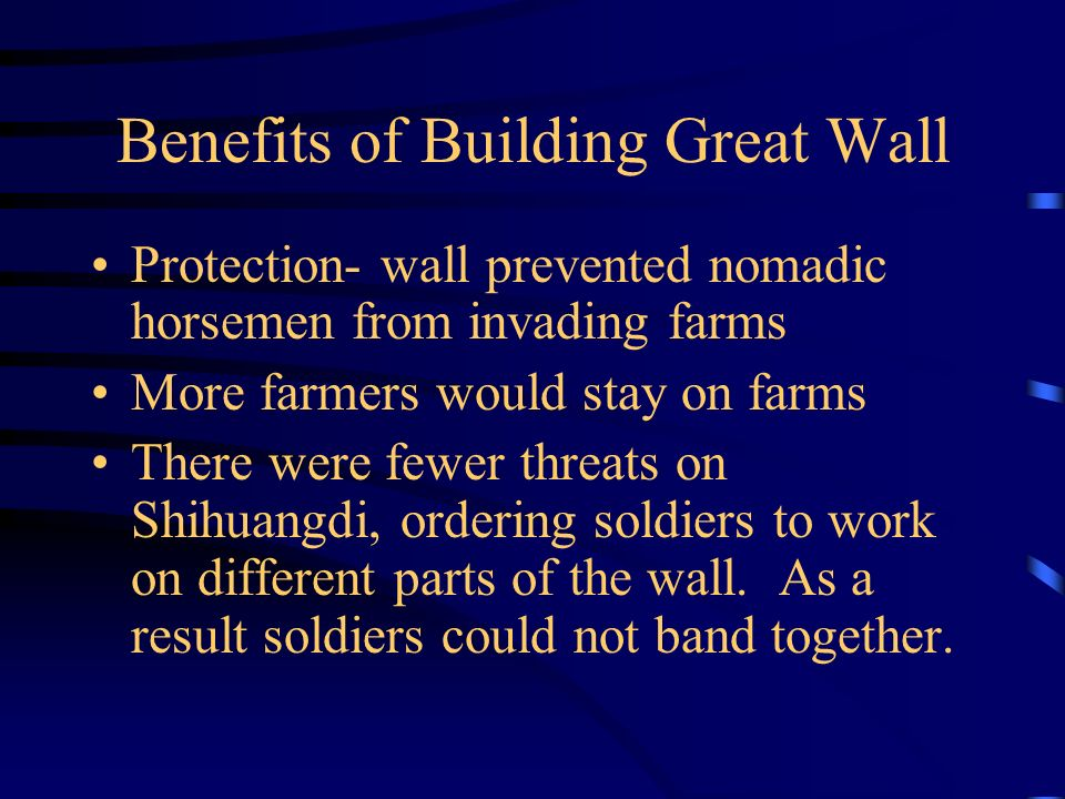 Benefits of Building Great Wall