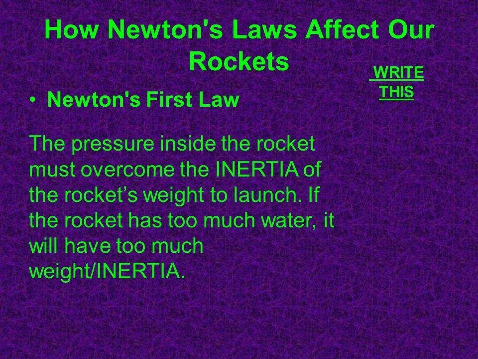 How Newton s Laws Affect Our Rockets