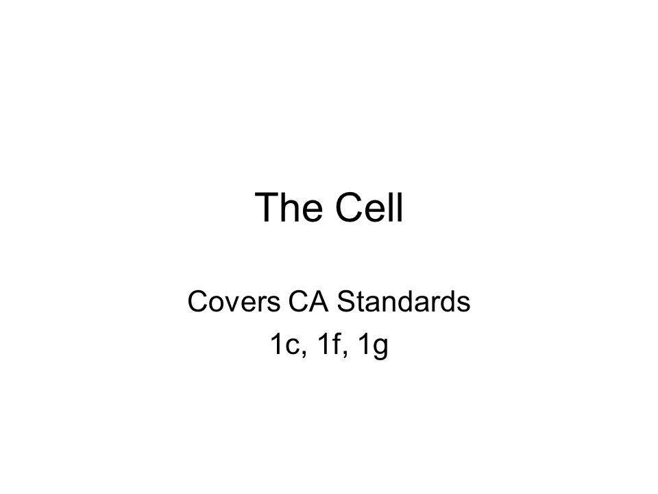 Covers CA Standards 1c, 1f, 1g