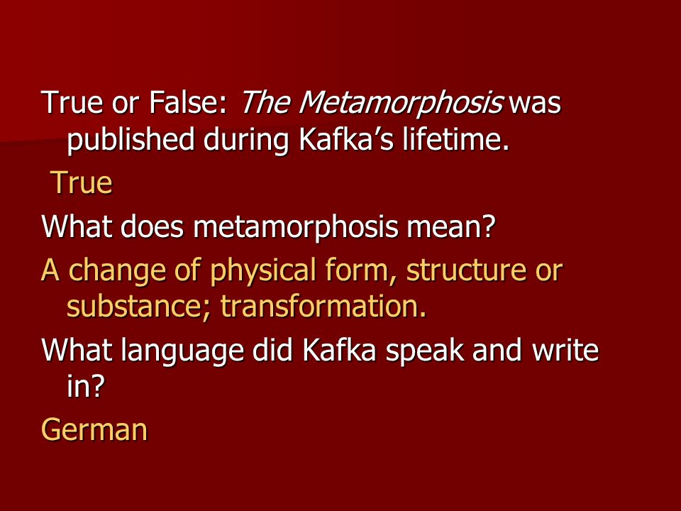 Franz Kafka In A Letter December 16 Ppt Download