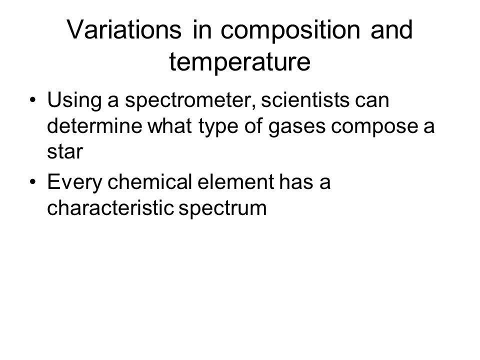 Variations in composition and temperature