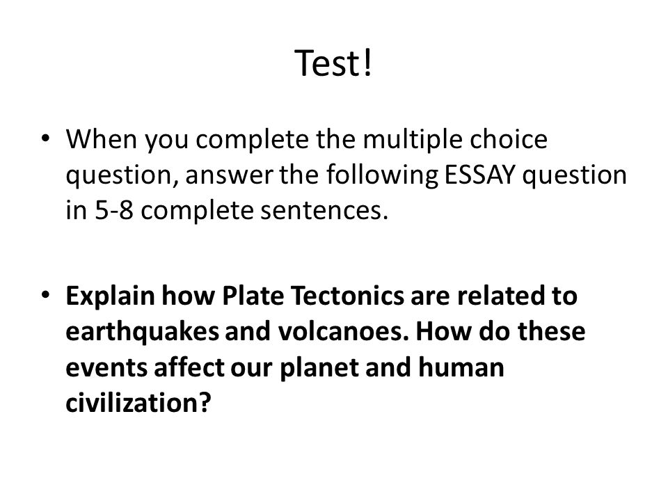 warm up pass back and go through quiz ppt video online  when you complete the multiple choice question answer the following essay question in