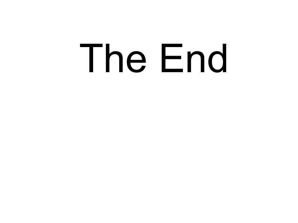 The End Or IS It