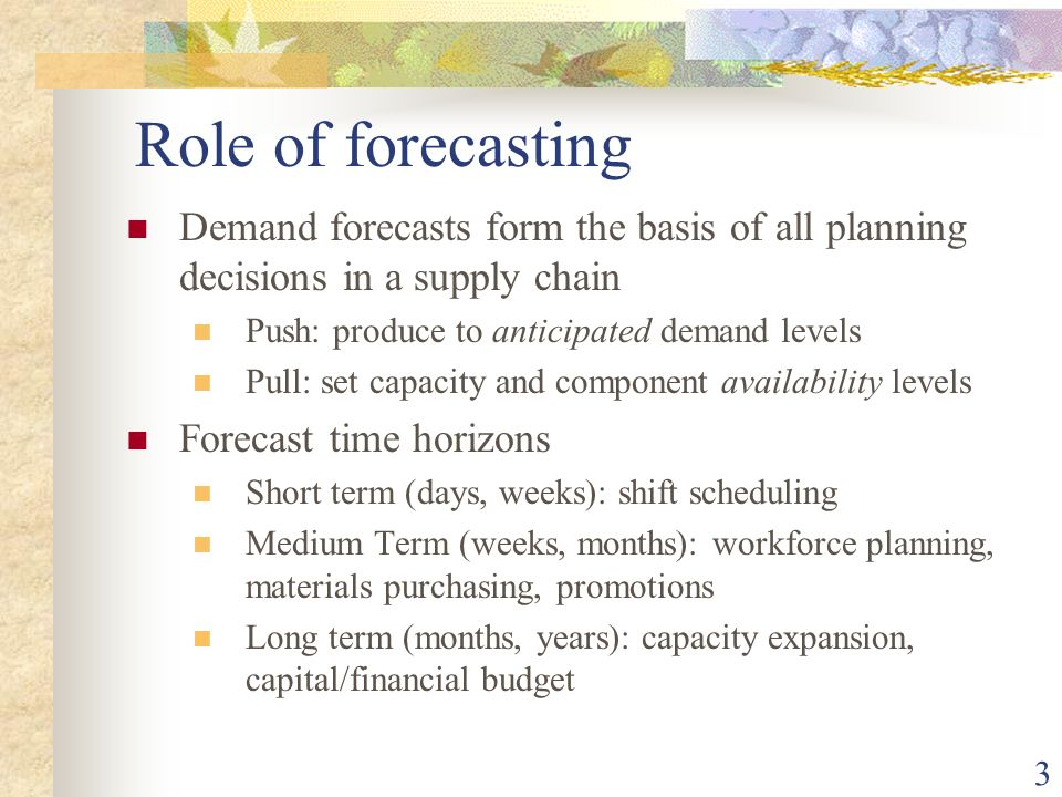 Difference between planning and forecasting pdf