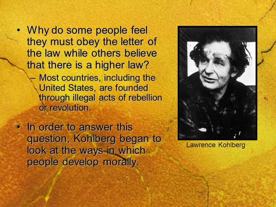 Why do some people feel they must obey the letter of the law while others believe that there is a higher law