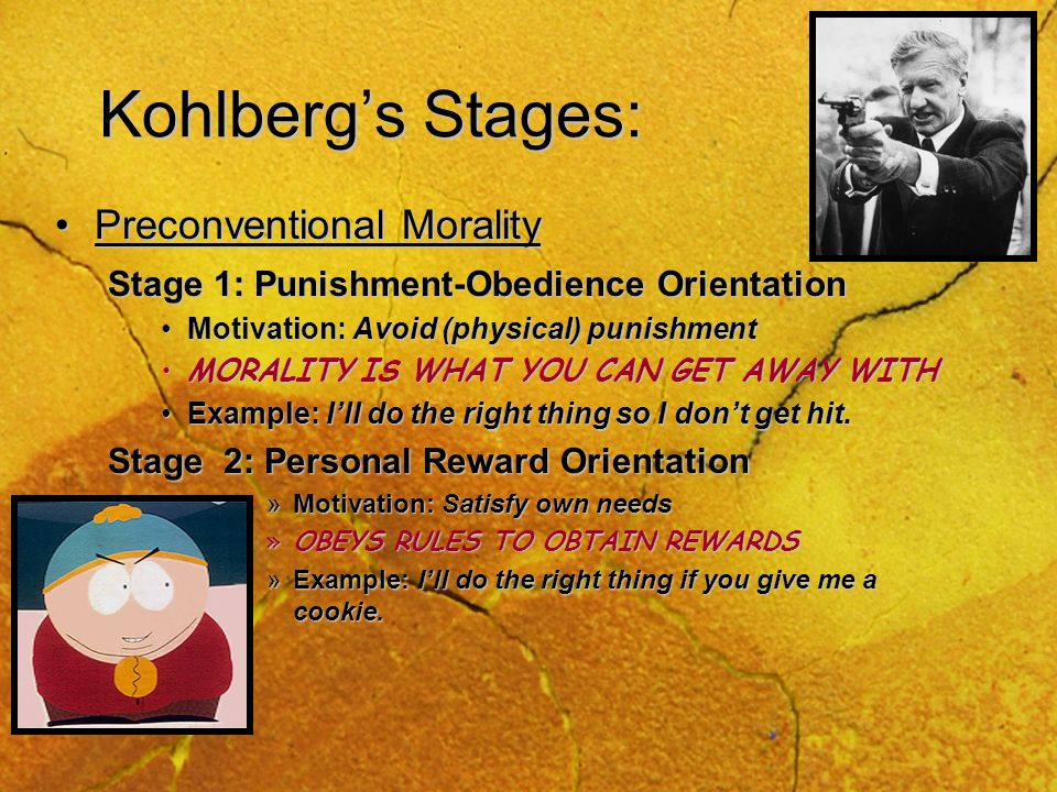 Kohlberg's Stages: Preconventional Morality