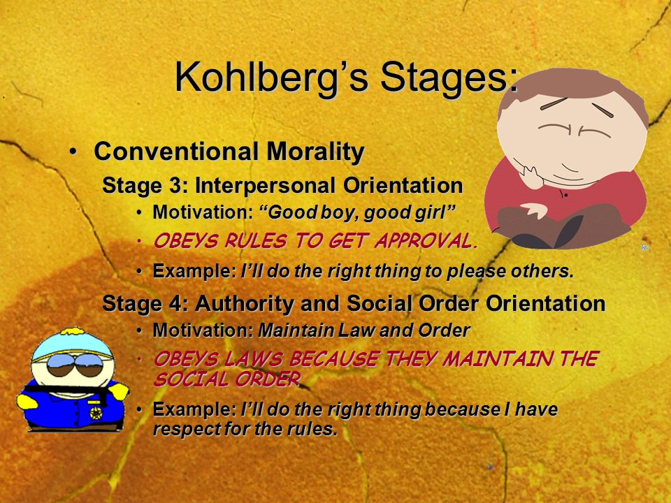 Kohlberg's Stages: Conventional Morality