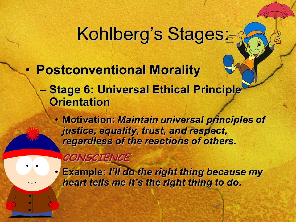 Kohlberg's Stages: Postconventional Morality