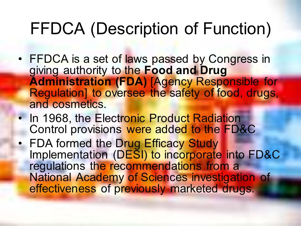 FFDCA (Description of Function)
