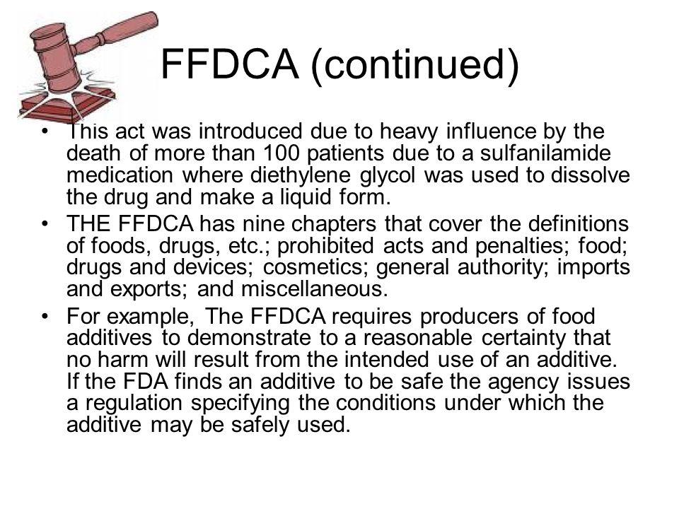 FFDCA (continued)