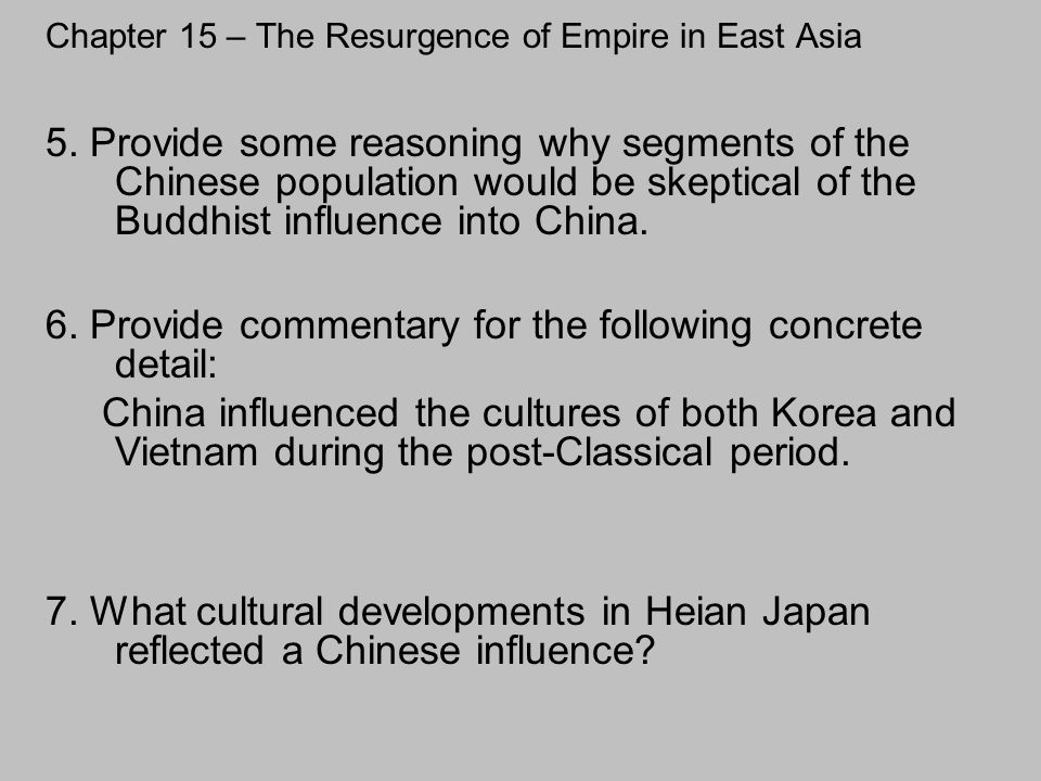 Chapter 15 – The Resurgence of Empire in East Asia