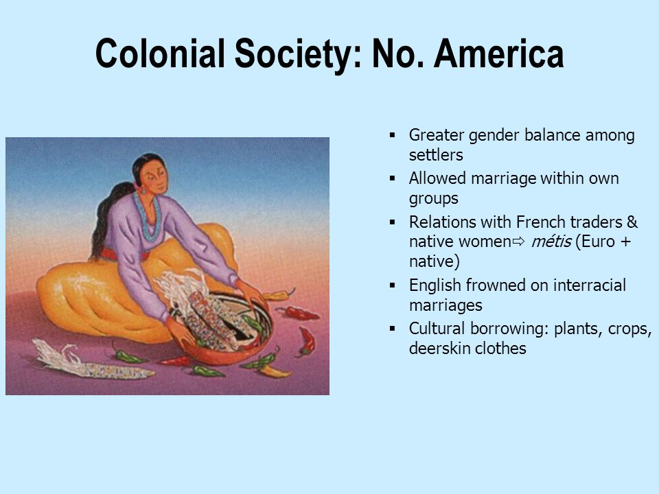 Colonial Society: No. America