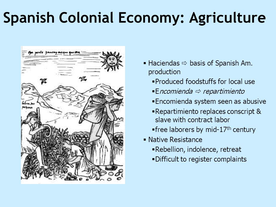 Spanish Colonial Economy: Agriculture