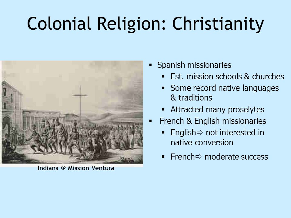 Colonial Religion: Christianity
