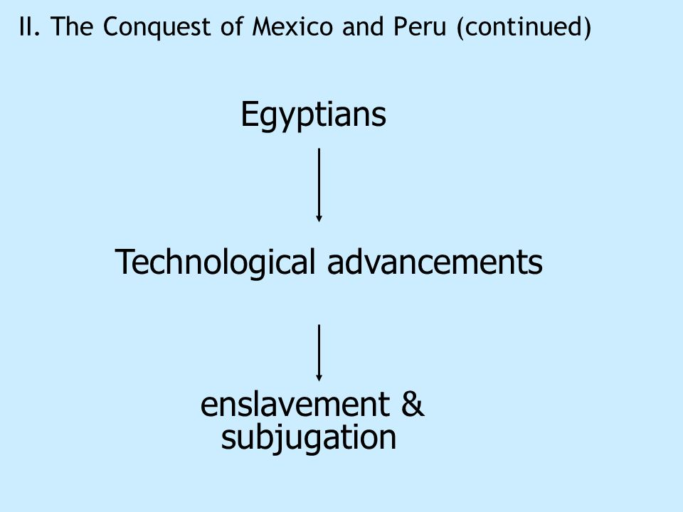 II. The Conquest of Mexico and Peru (continued)