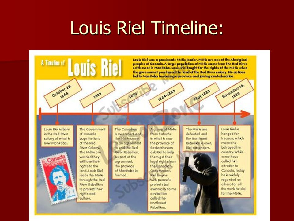 louis riel and the metis essay A brief essay on métis artist david garneau's performance 'dear john louis david riel' garneau's performance will take place in victoria park in the city of riel's hanging by the canadian state on the 130th anniversary of this event.