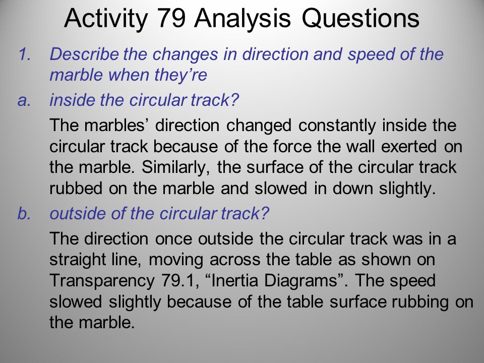Activity 79 Analysis Questions