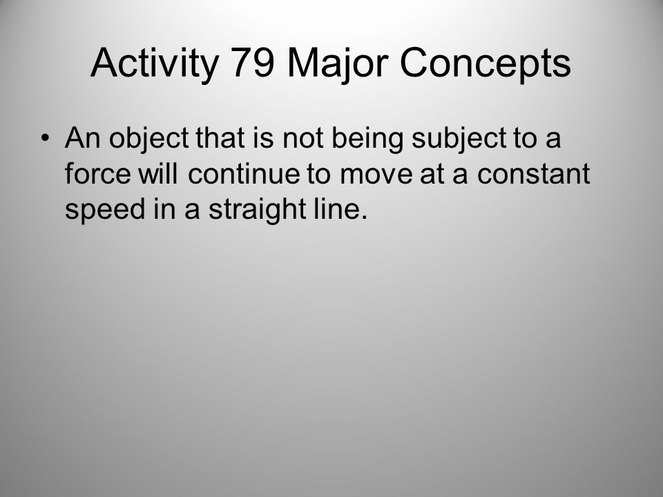 Activity 79 Major Concepts