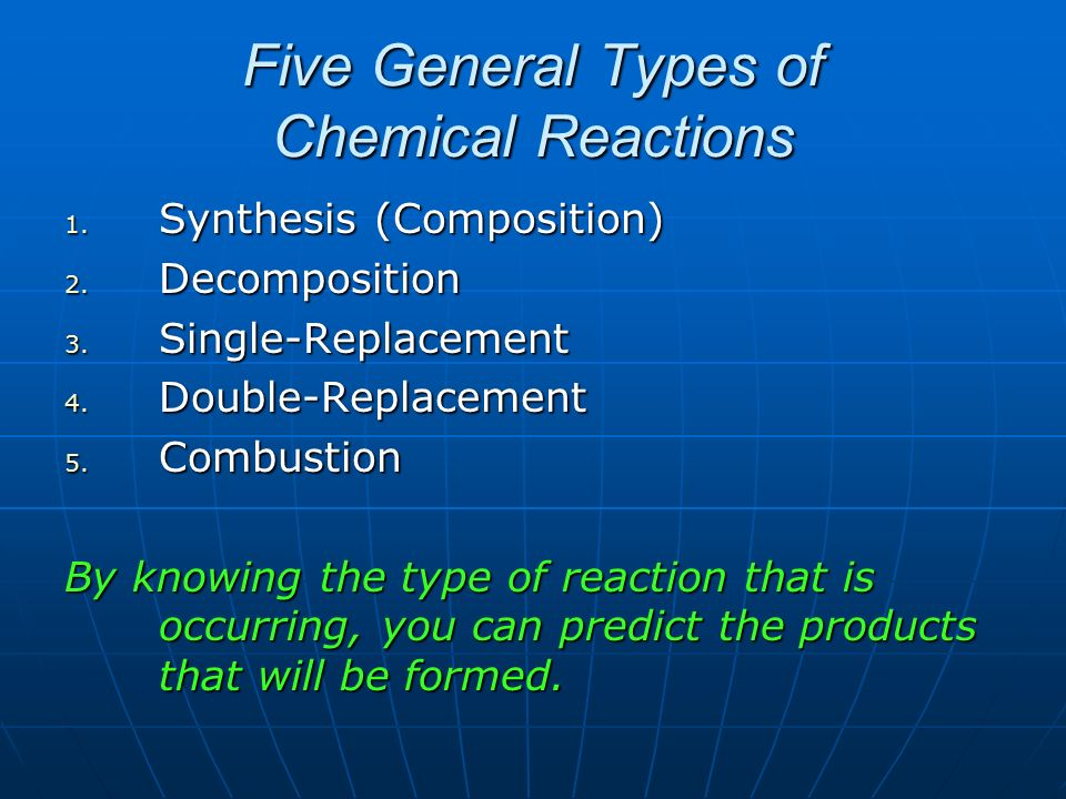types of chemical reactions pdf