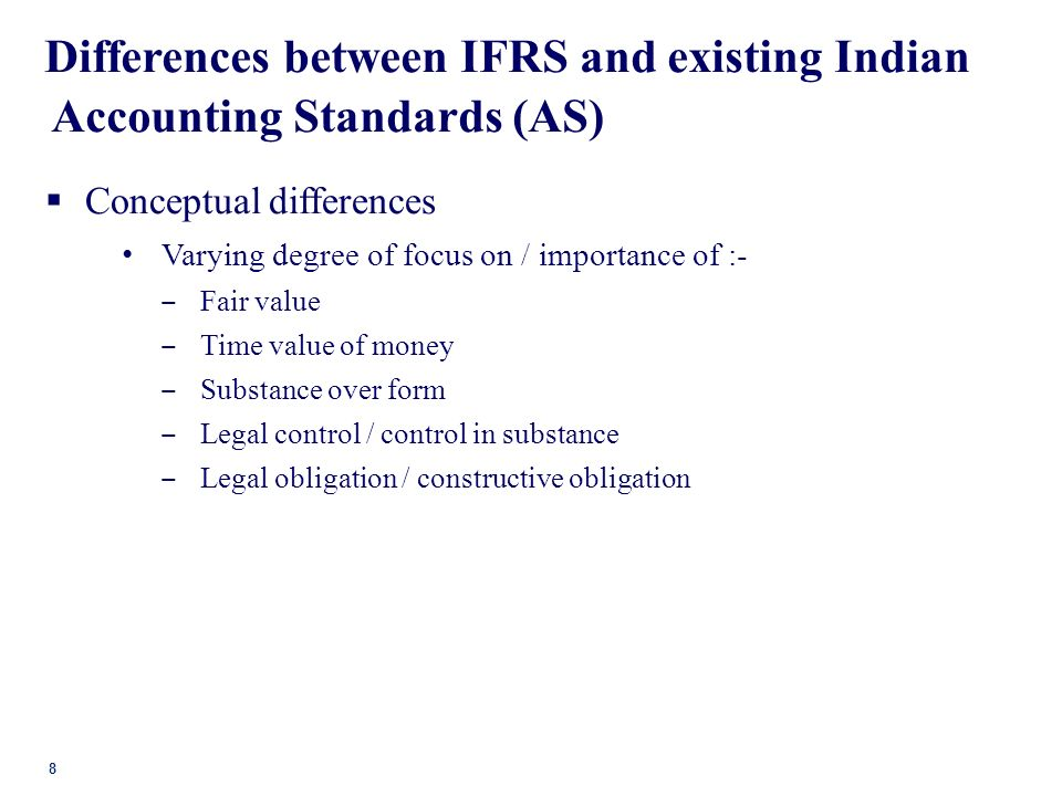 ifrs on the value significance accounting statistics This thesis aims at comparing ias/ifrs and vietnamese accounting standards ( vas) in terms  this method will be utilised to gain statistics of the opinions of   with respect to the revaluation method, fair value is of significant importance.