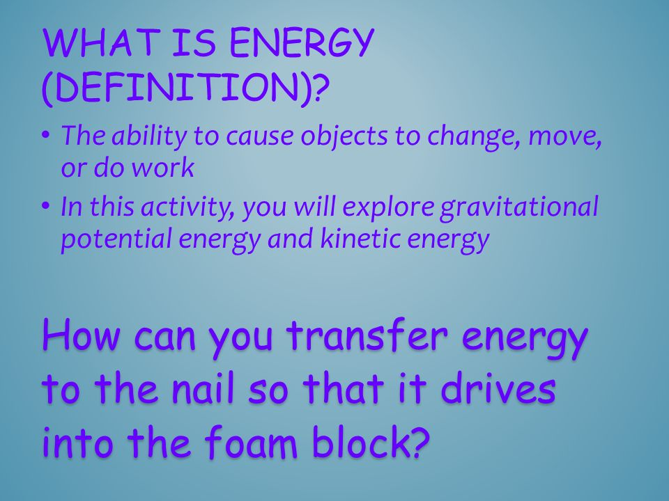 What is energy (definition)