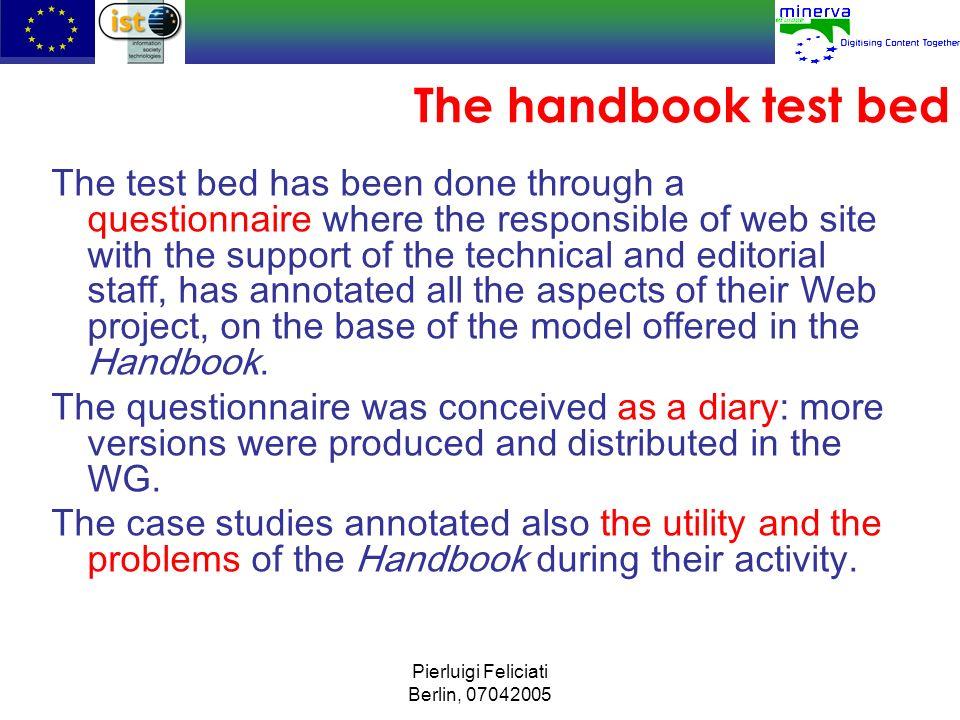 The handbook test bed