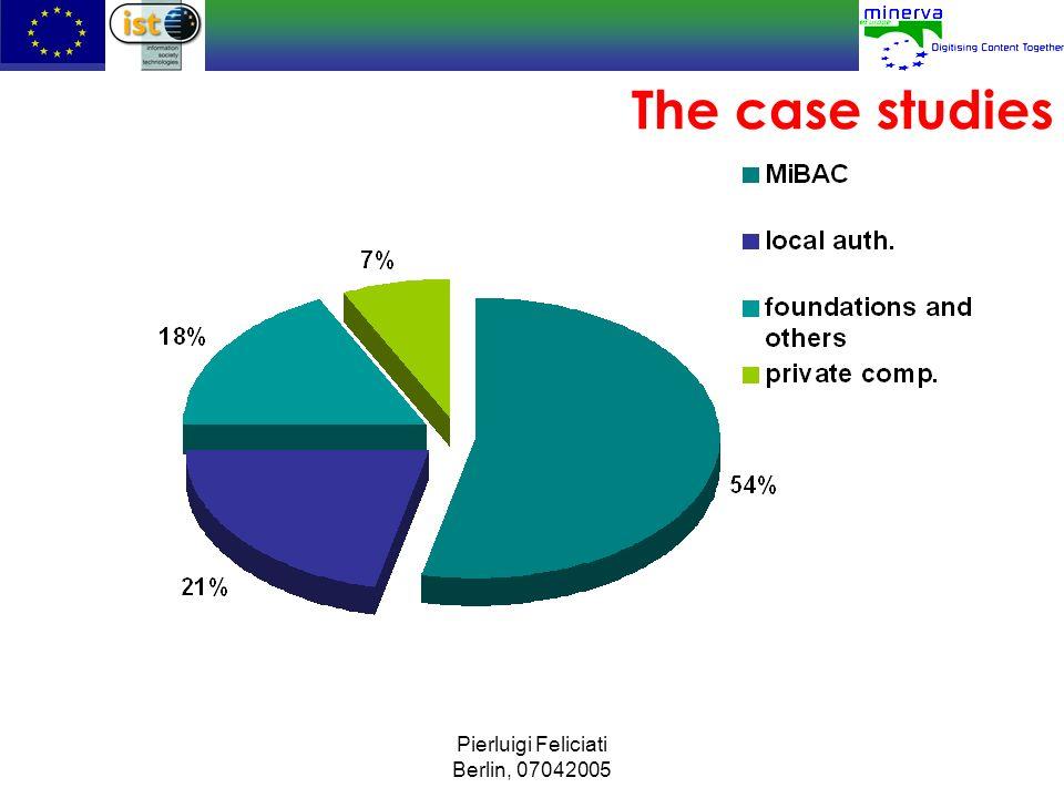 The case studies Pierluigi Feliciati Berlin, 07042005