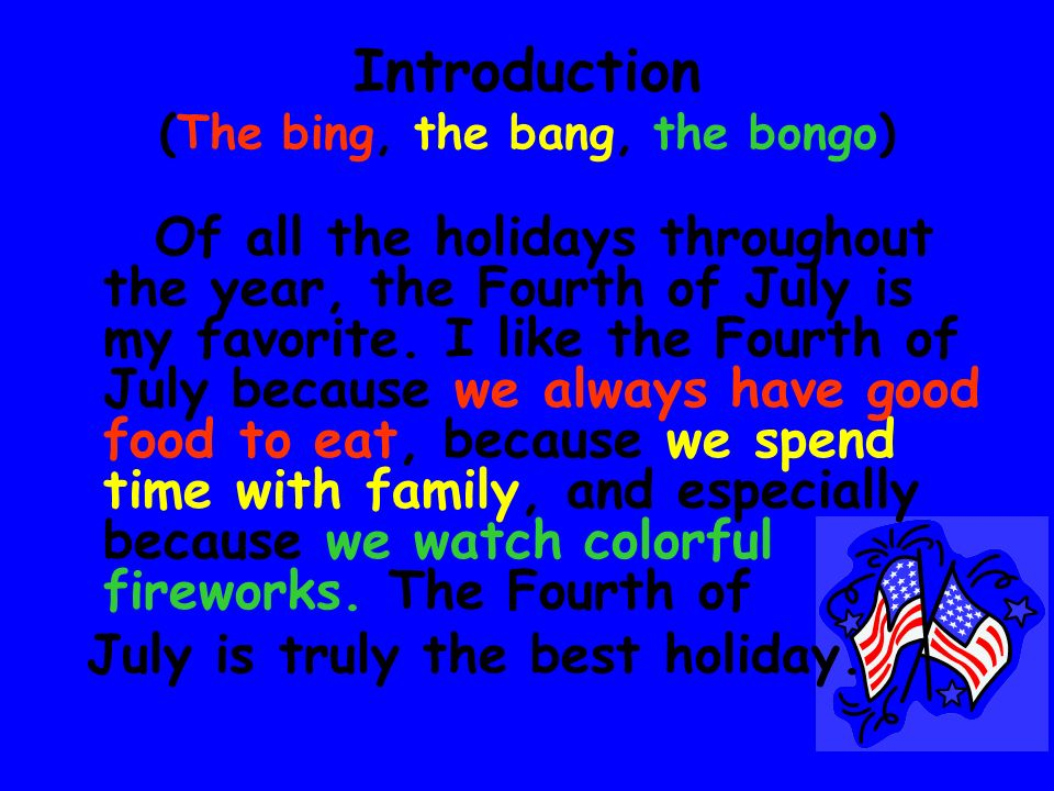 Introduction (The bing, the bang, the bongo)