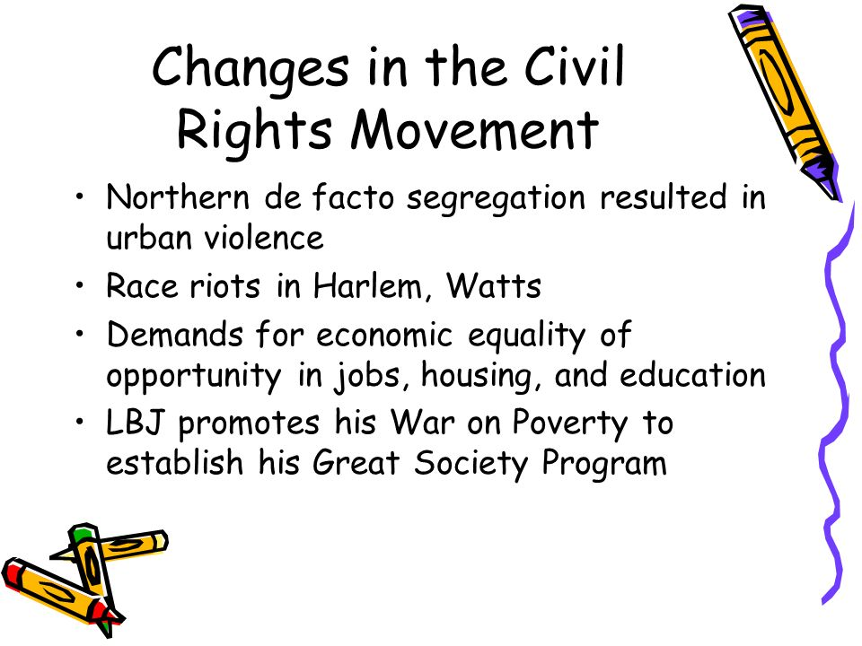 Changes in the Civil Rights Movement