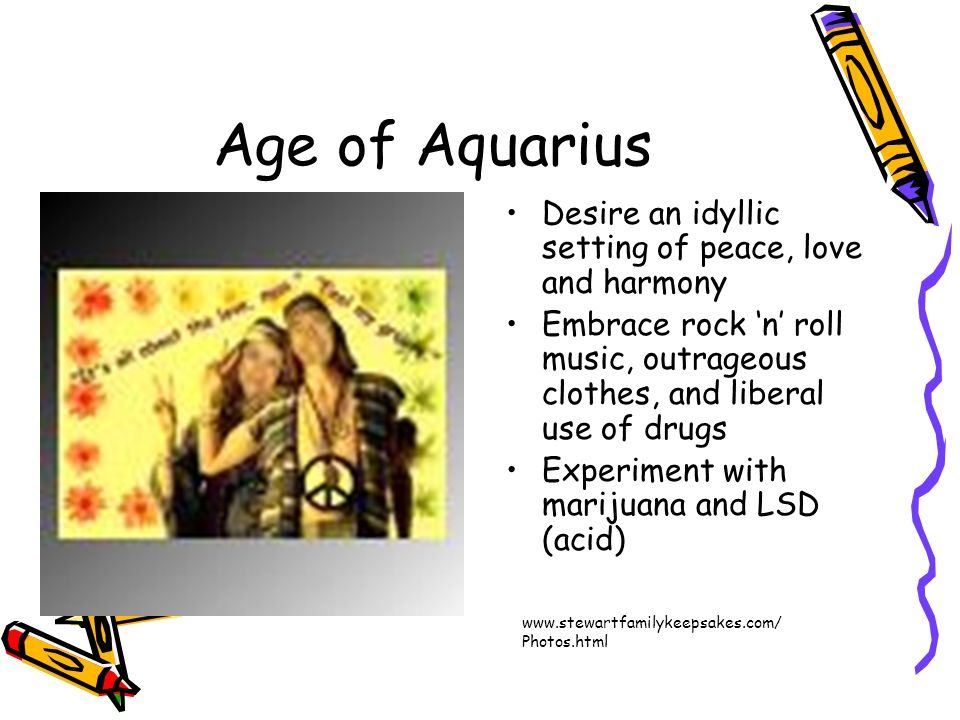 Age of Aquarius Desire an idyllic setting of peace, love and harmony