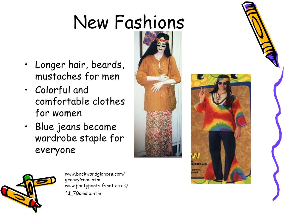 New Fashions Longer hair, beards, mustaches for men