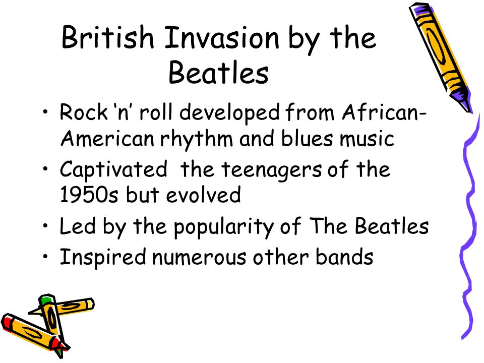 British Invasion by the Beatles
