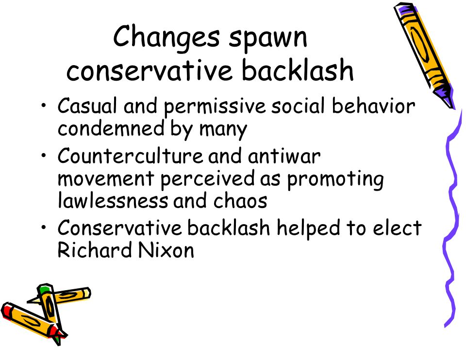 Changes spawn conservative backlash