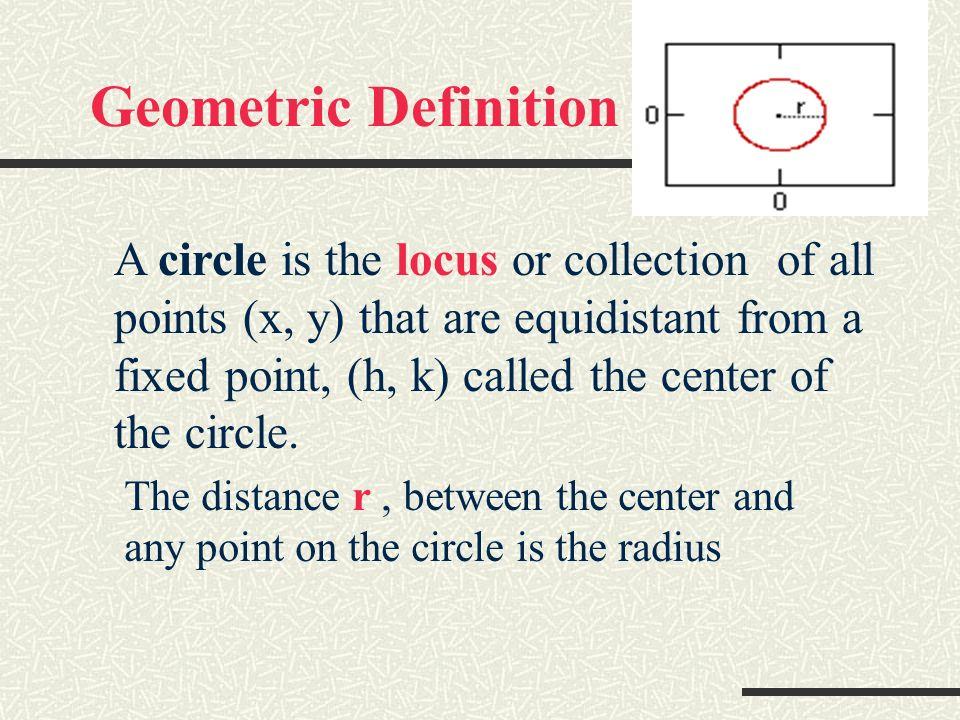 Geometric Definition