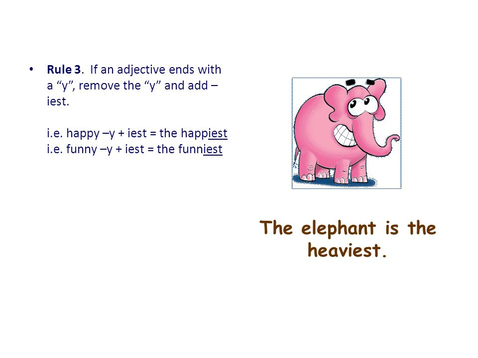 The elephant is the heaviest.