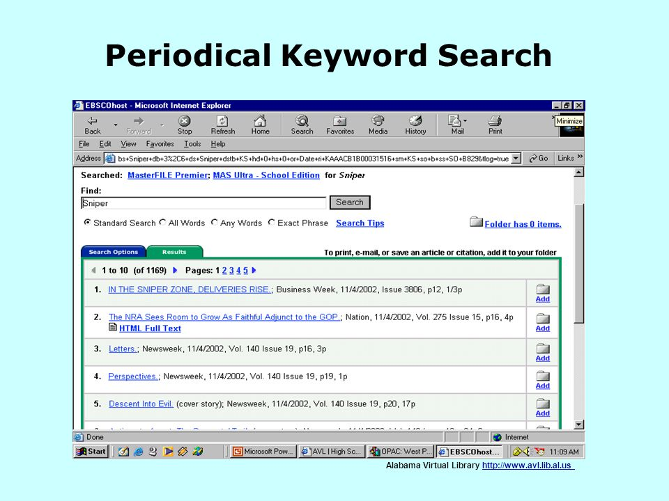 Periodical Keyword Search