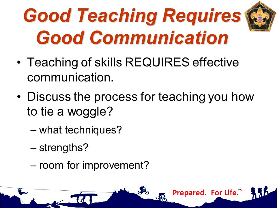 Good Teaching Requires Good Communication