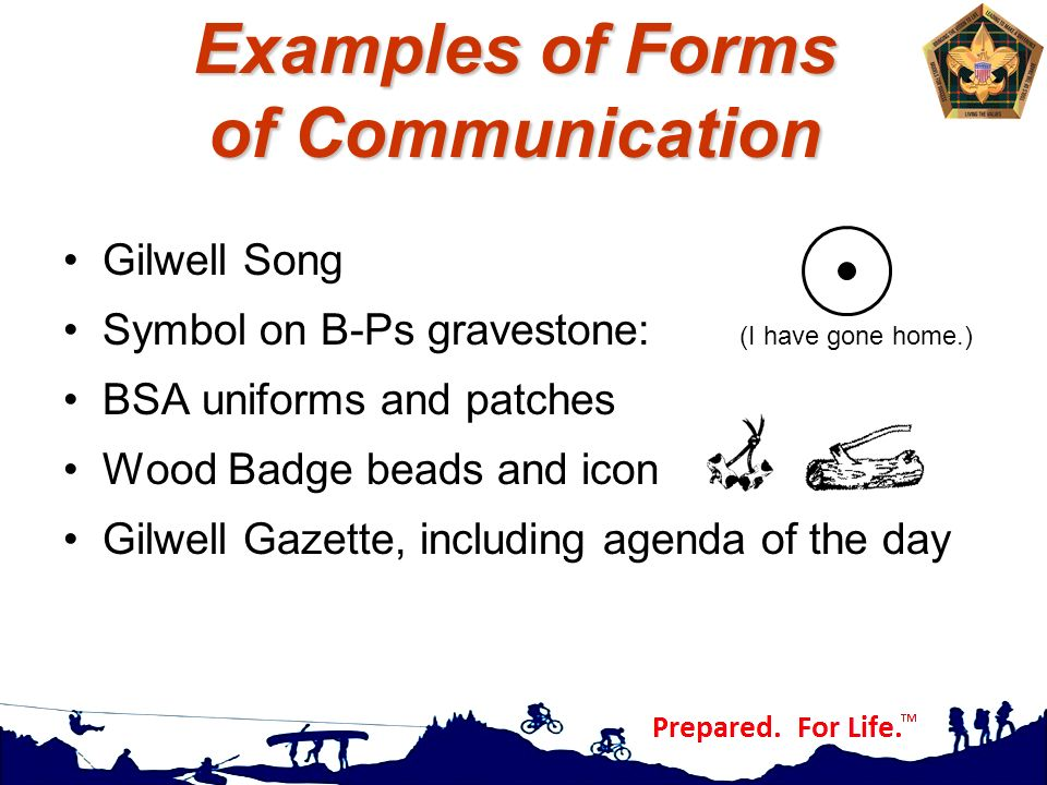 Examples of Forms of Communication