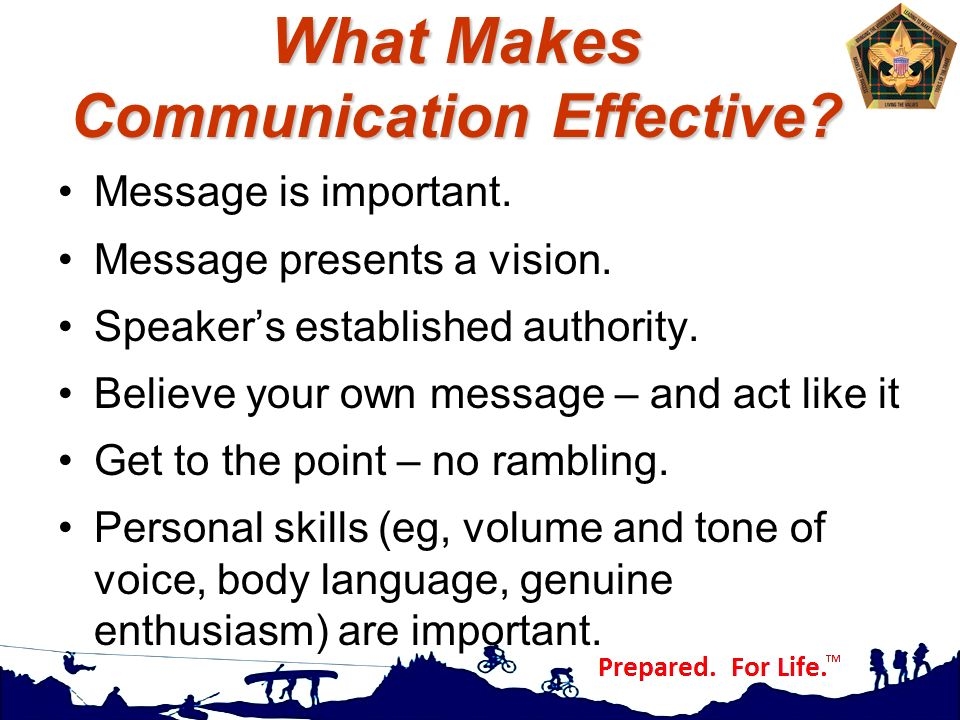 What Makes Communication Effective