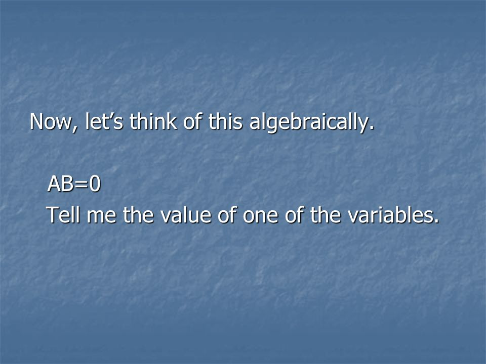 Tell me the value of one of the variables.