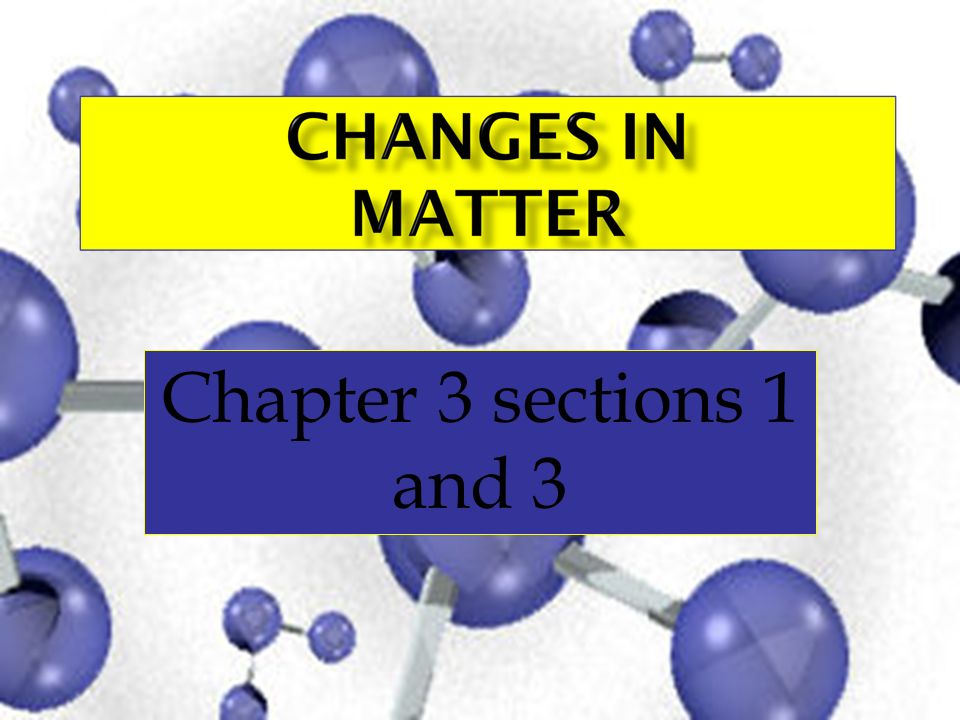 Chapter 3 sections 1 and 3