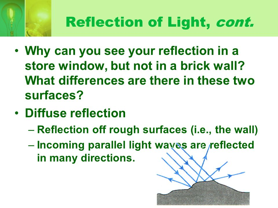 Reflection of Light, cont.