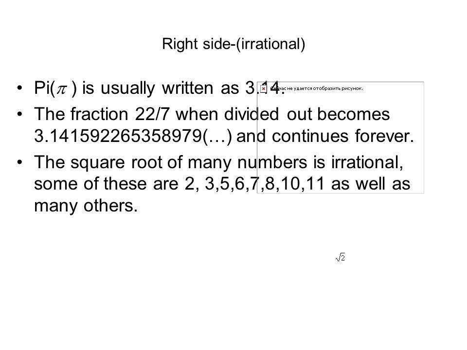 Right side-(irrational)